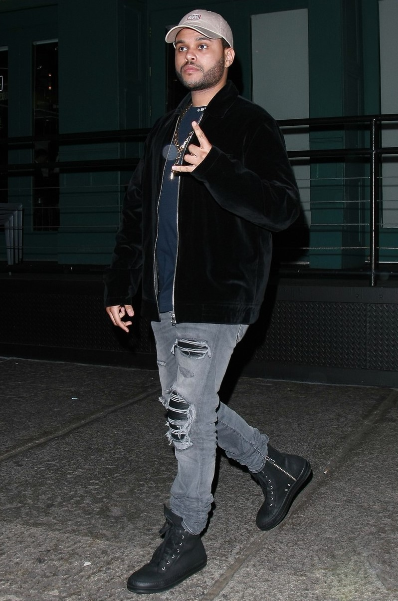 SPOTTED: The Weeknd In Amiri & Rick Owens