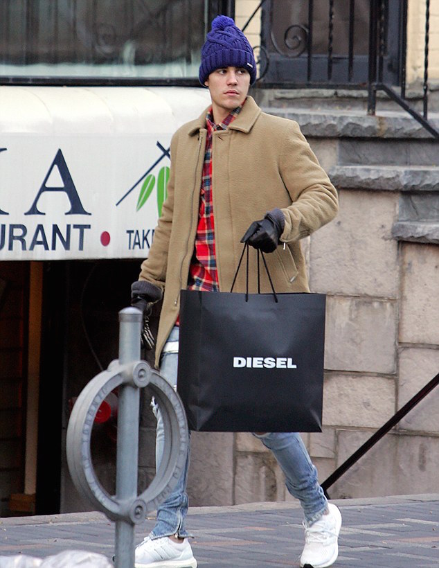 SPOTTED: Justin Bieber In Diesel, Fear Of God & Adidas