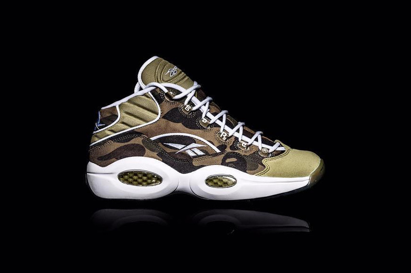 BAPE and Reebok Rework Question Mid Silhouette