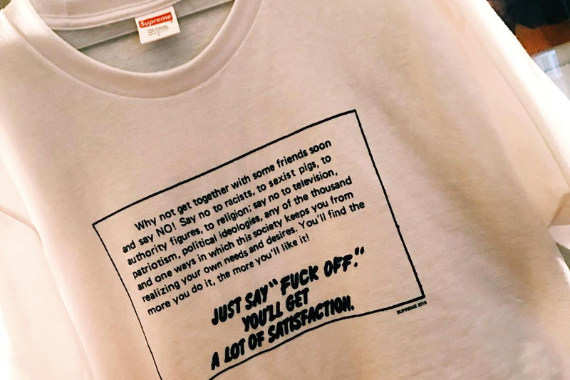 Supreme Creates Politically-Charged T-Shirt