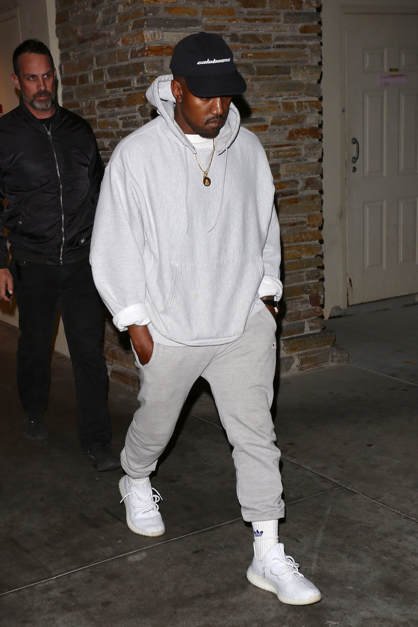 SPOTTED: Kanye West In Two Sportswear Outfits