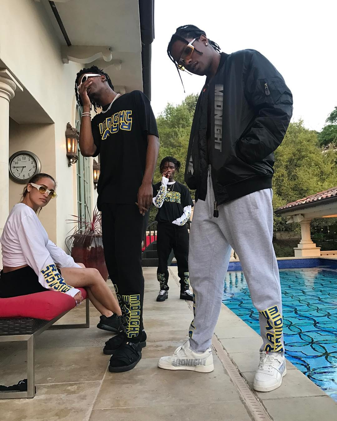 SPOTTED: A$AP Rocky, Ian Connor And Playboy Carti In Midnight Studios
