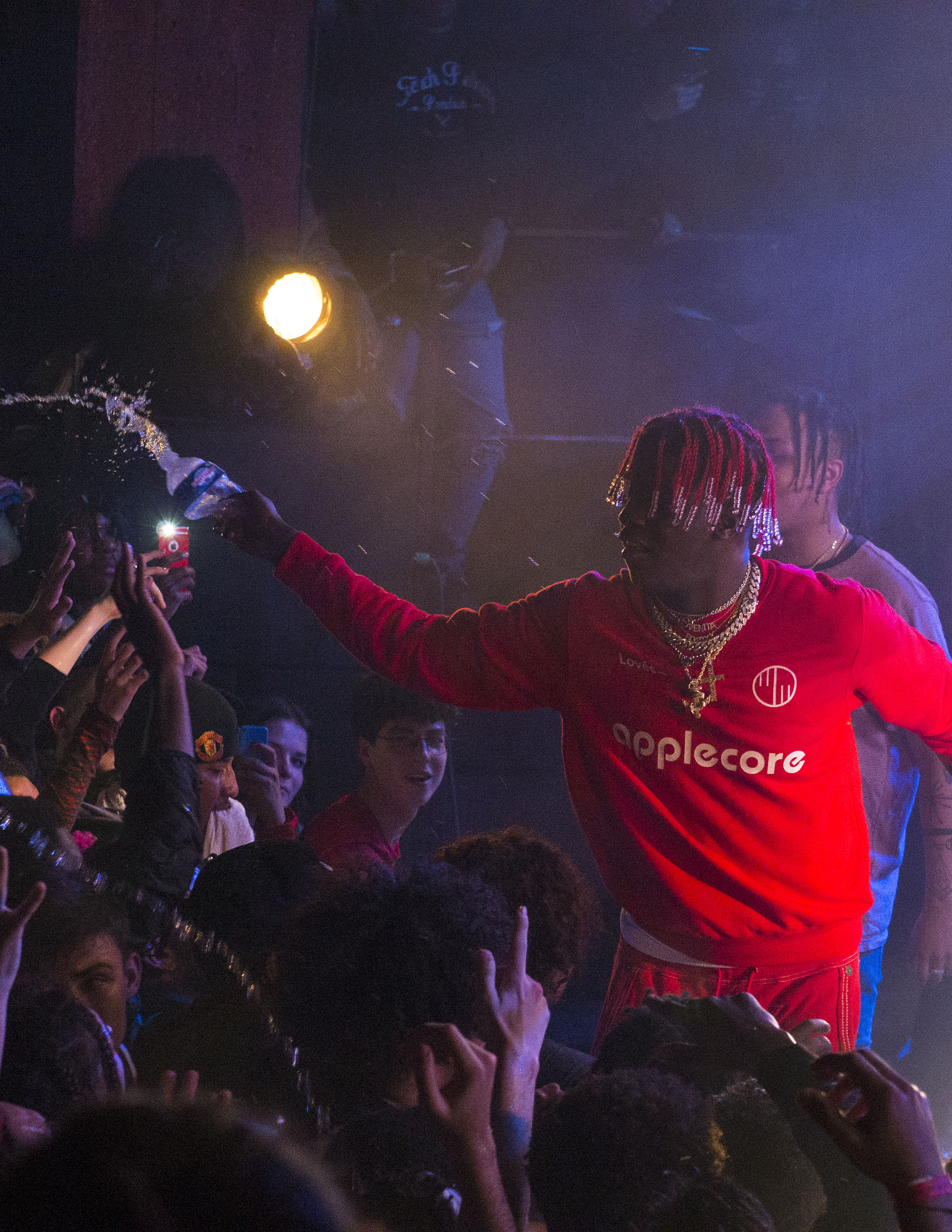 SPOTTED: Lil Yatchy Performs In Paris Wearing Applecore