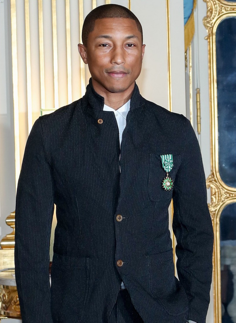 SPOTTED: Pharrell in Adidas Sneakers at French Award Ceremony