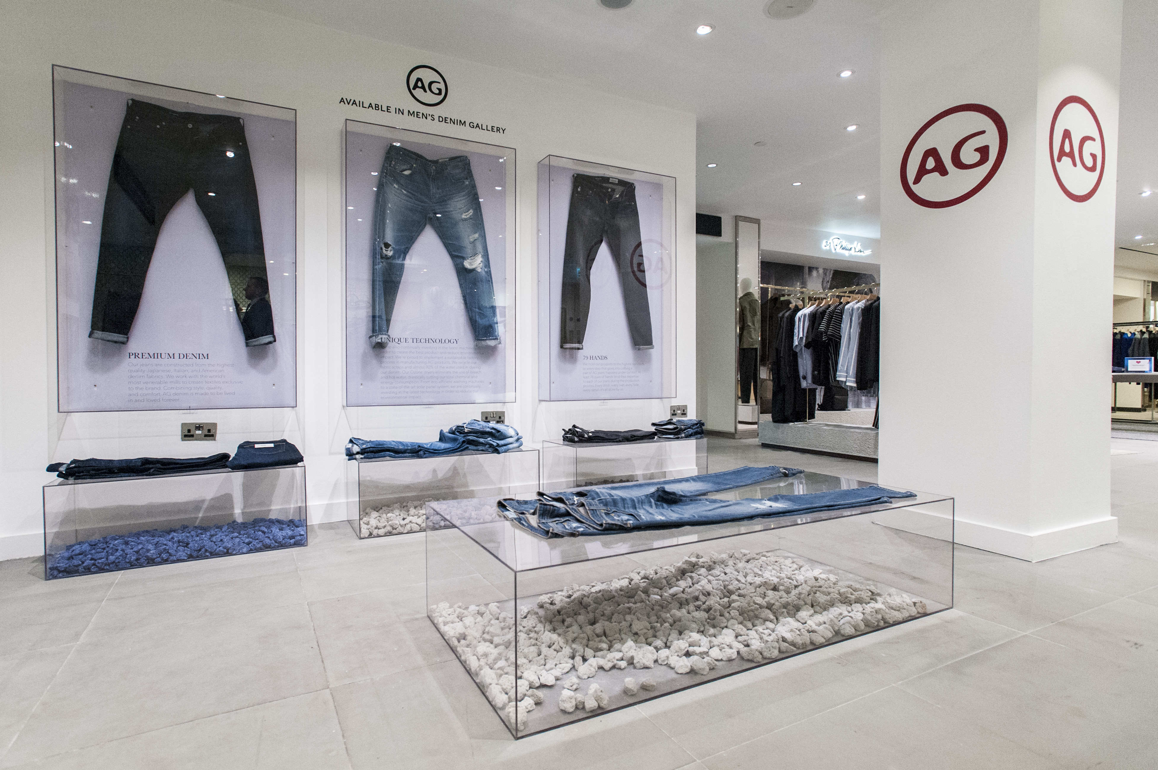 A Look Inside The AG Jeans Pop-Up Installation At Harrods