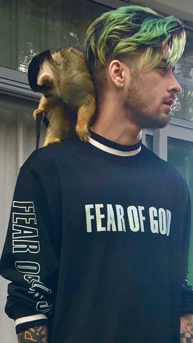SPOTTED: Zayn Malik In Fear Of God Jersey