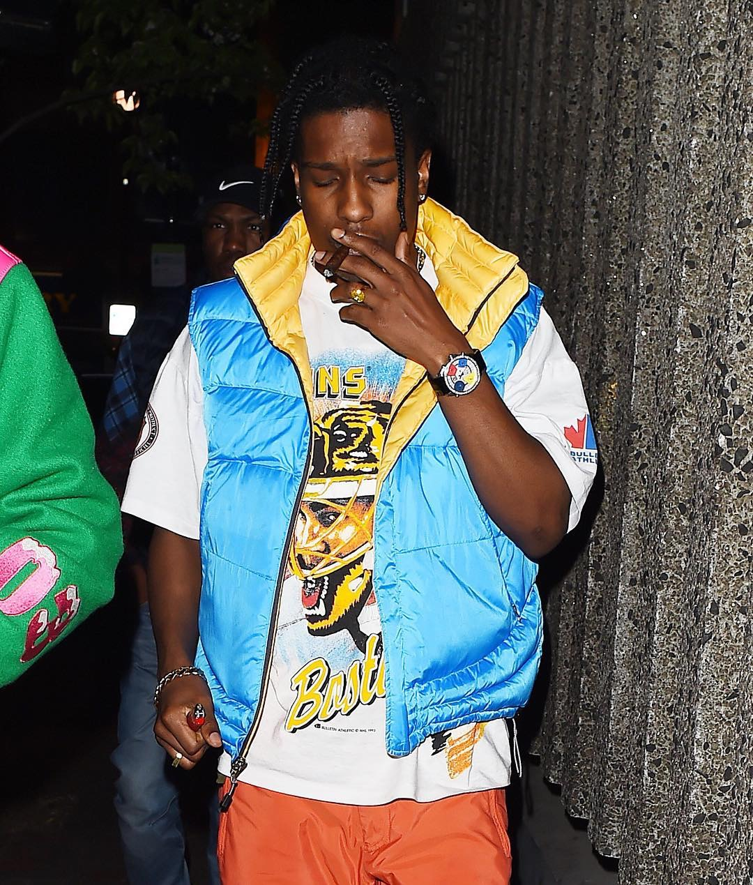 SPOTTED: A$AP Rocky in Jacob & Co Watch and a Blue Vest in London