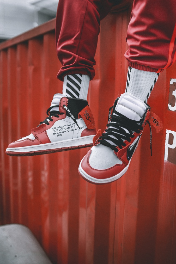 Check Out the OFF-WHITE x Air Jordan 1 On-Feet