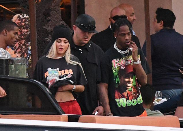 SPOTTED: Travis Scott in Tiger Woods T-Shirt & Rokit Camo Pants