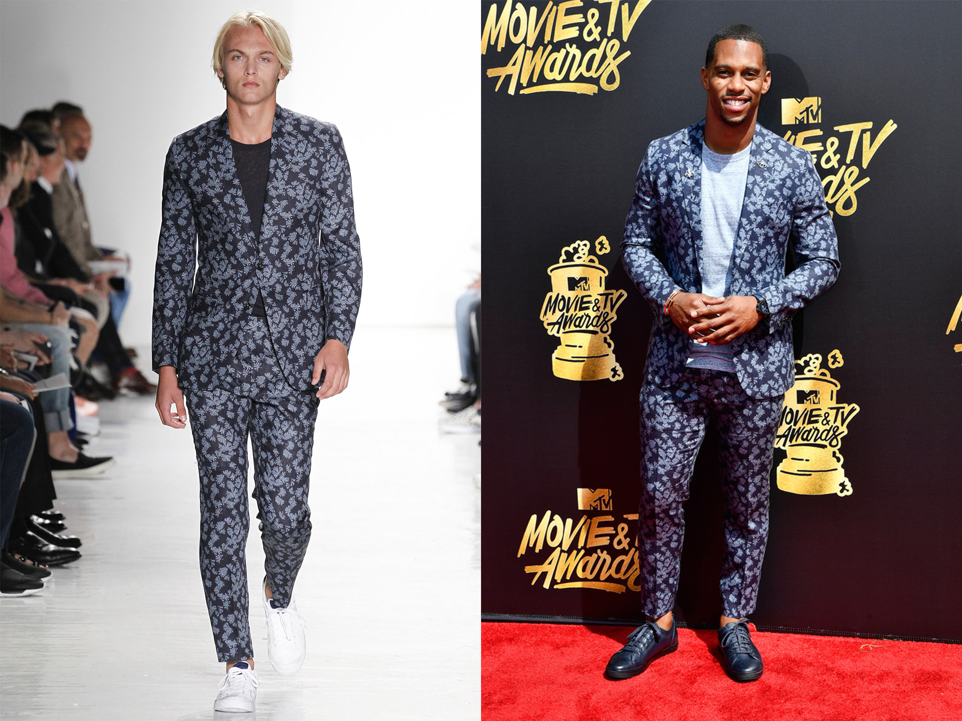 SPOTTED: Victor Cruz in Todd Snyder at MTV Movie & TV Awards