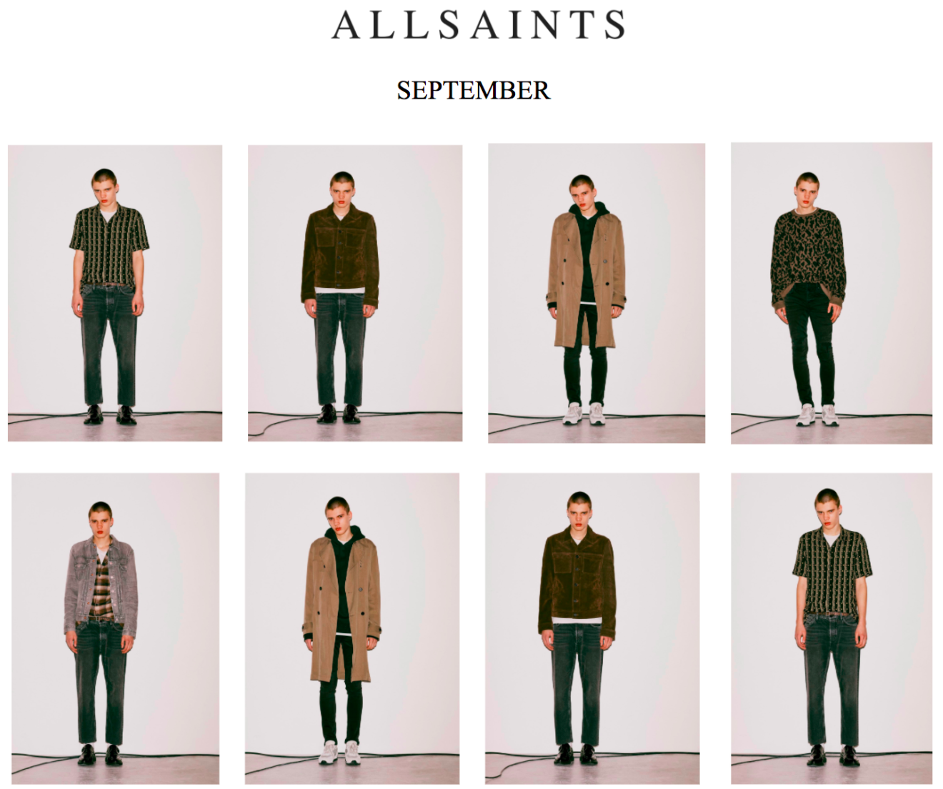 All Saints Release September/October Lookbook