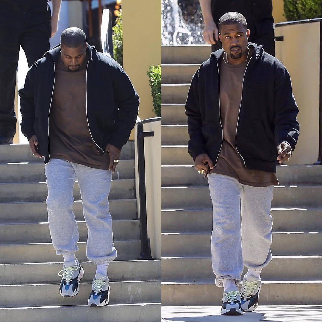 SPOTTED: Kanye West In adidasOriginals Yeezy Wave Runners 700 Sneakers