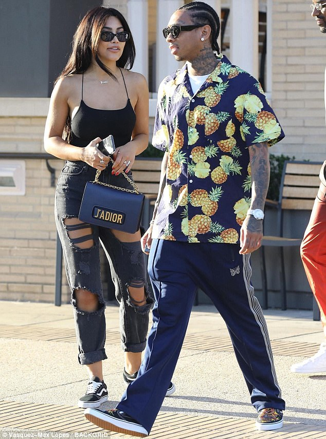 SPOTTED: Tyga In Hawaiian Shirt, Needles Pants And Vans Sneakers