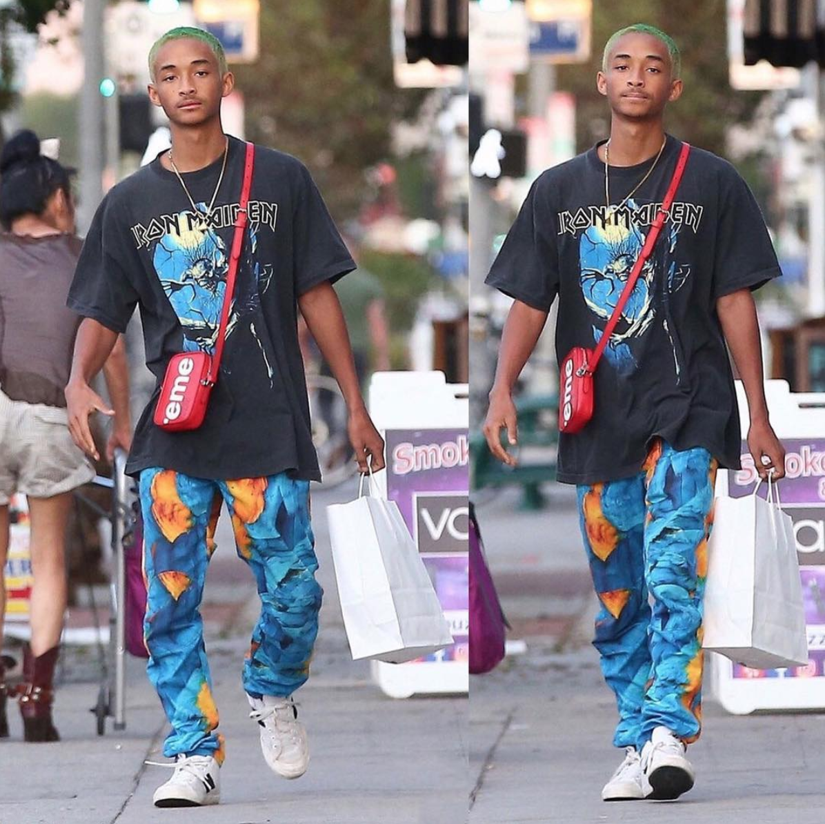 SPOTTED: Jaden Smith In Supreme x Louis Vuitton, G Star Jeans + New Balance Sneakers