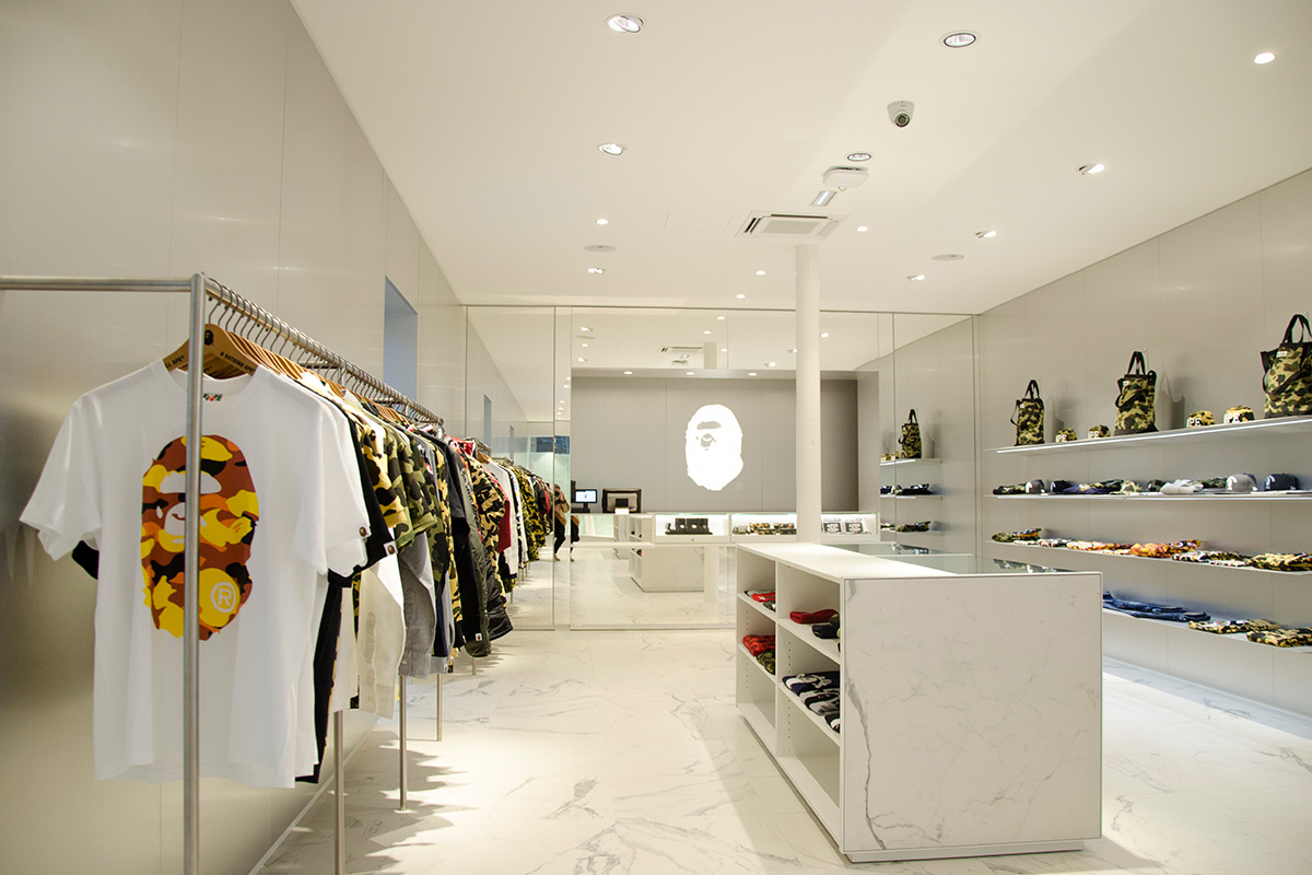 A Look At The New BAPE Store in Paris