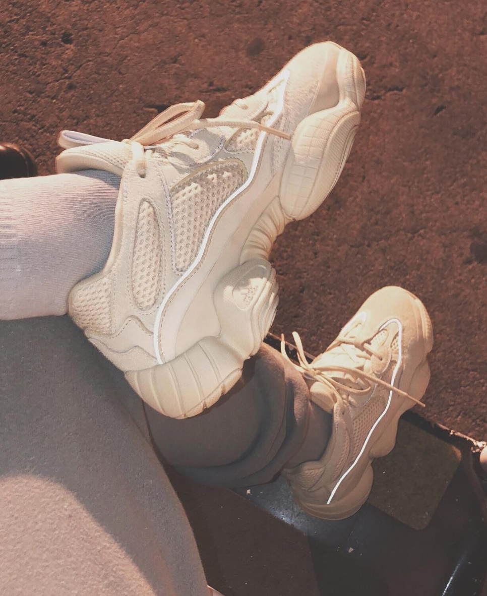 SPOTTED: Kim Kardashian West In adidas YEEZY Mud Rat 500 Sneakers
