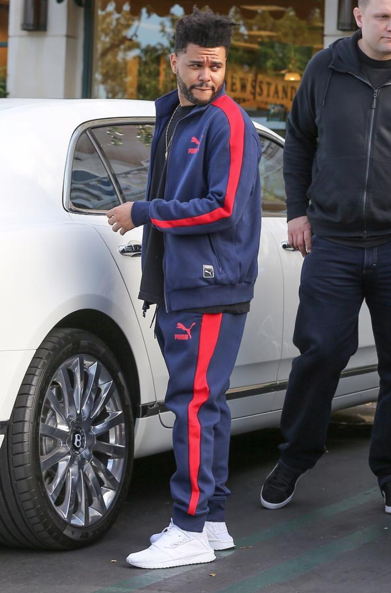 SPOTTED: The Weeknd In PUMA Tracksuit And Sneakers