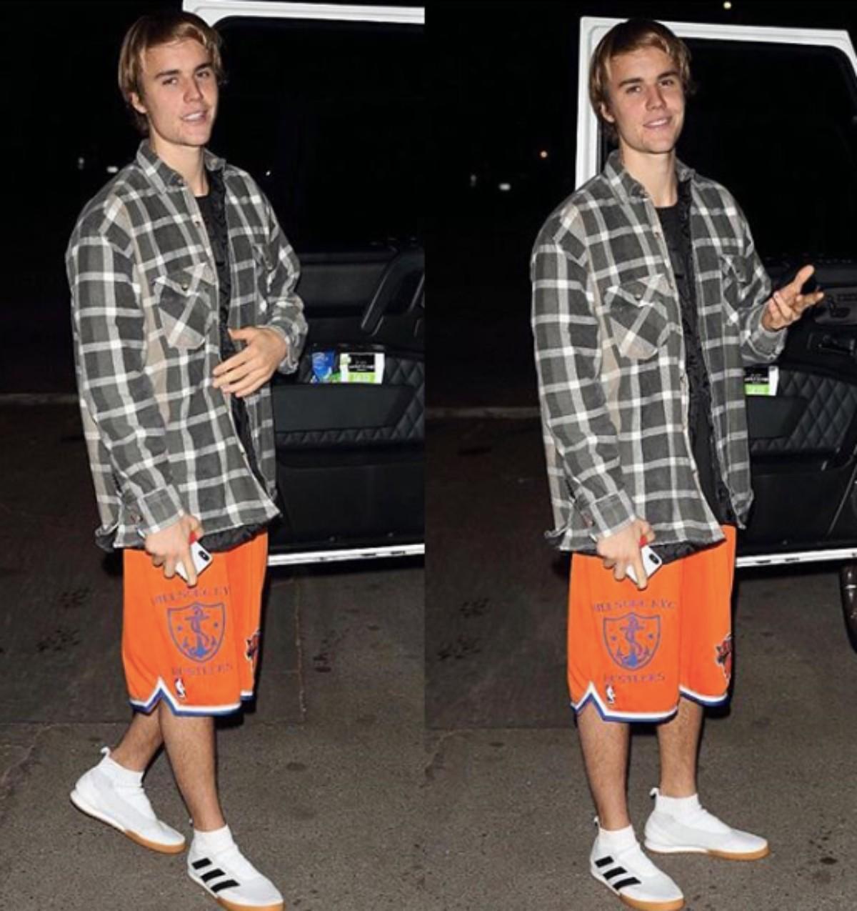 SPOTTED: Justin Bieber in Gosha Rubchinskiy x adidas