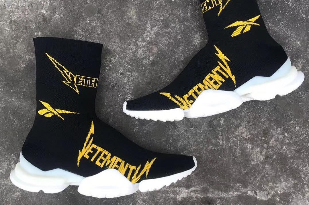 Feast Your Eyes on the Vetements x Reebok Fall/Winter 2019 Crew Sock Runner