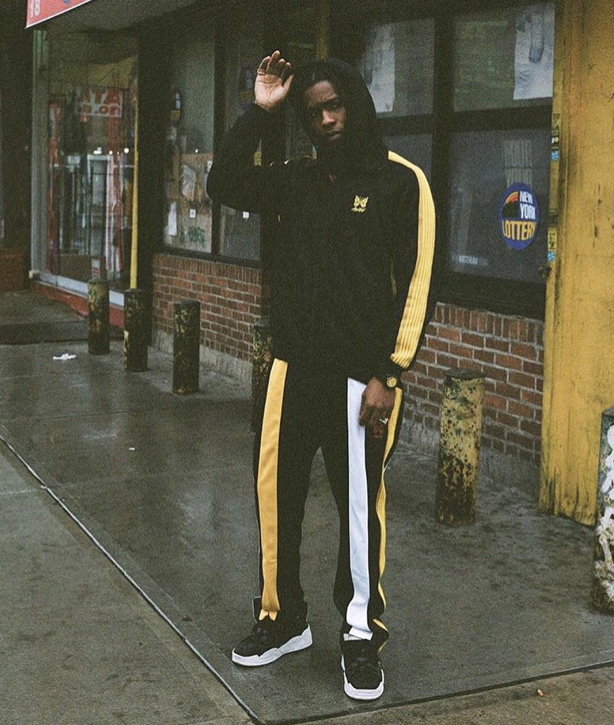 SPOTTED: A$AP Rocky Debuts AWGE x Needles Collab