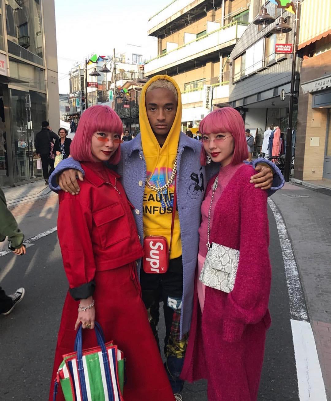 SPOTTED: Jaden Smith wearing Supreme Satchel in Tokyo