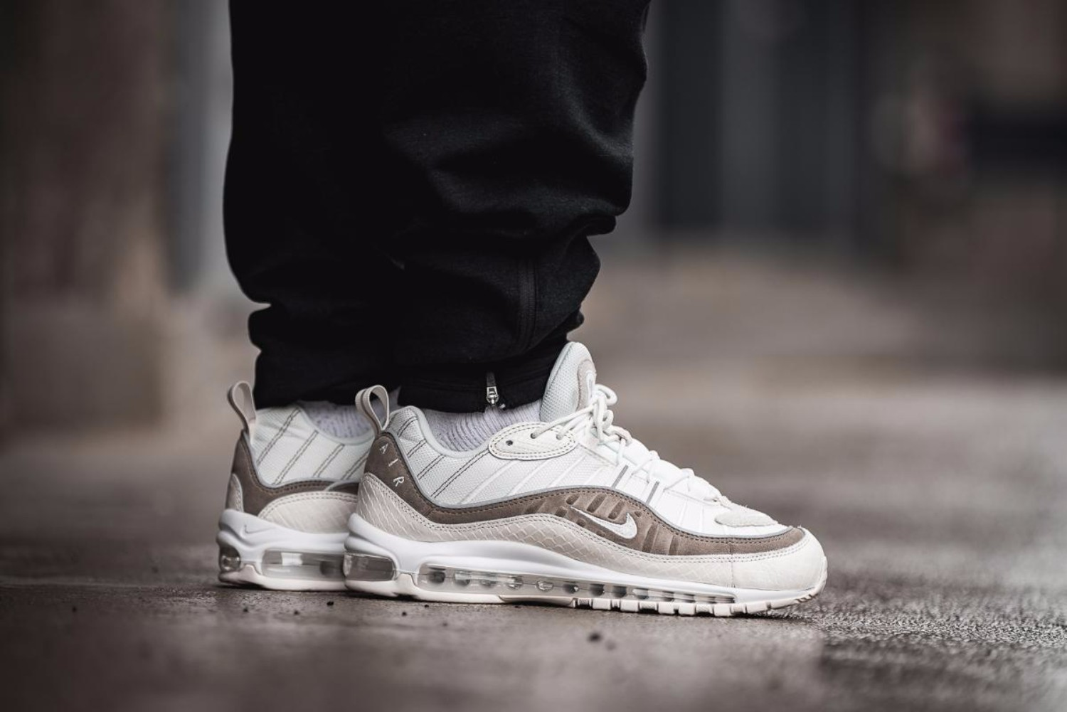 "Nike Presents Air Max 98 Snakeskin ""Sail/Sepia Stone"" for SS18"