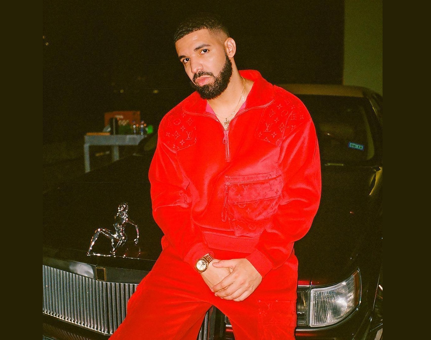 SPOTTED: Drake in Full Louis Vuitton During the Filming of SICKO MODE's Visuals