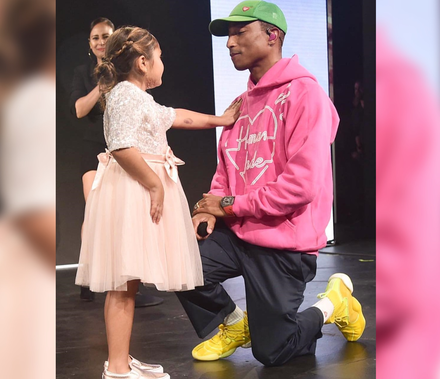 SPOTTED: Pharrell in adidas and Human Made while Performing for Children's Hospital L.A.