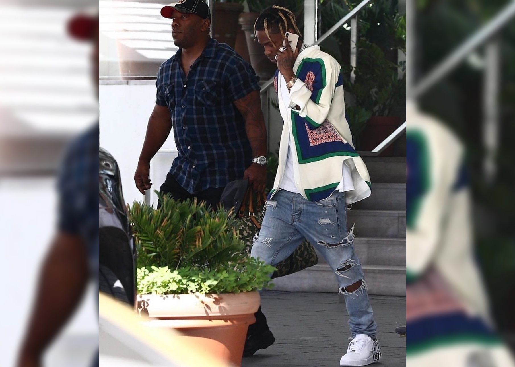 SPOTTED: Travis Scott Steps Out in CELINE and Supreme x COMME des Garcons x Nike