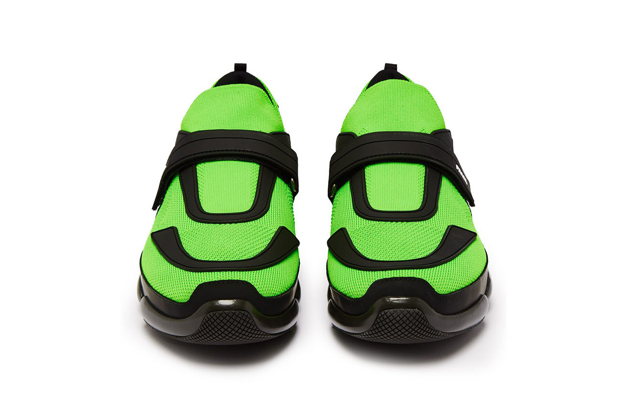 Prada Covers Their Cloudbust Sneaker in Bright Green