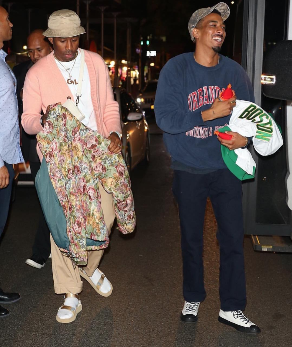 SPOTTED: Tyler, The Creator Fuses Floral Prints and Beige Colourways