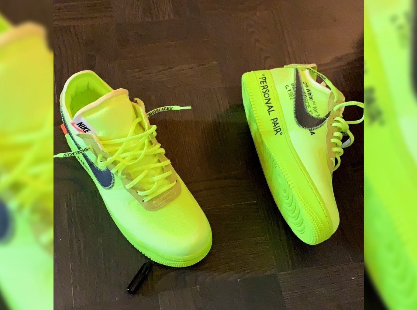 """Take a Look at Virgil Abloh's Personal Pair of """"Volt"""" OFF WHITE x Nike Air Force 1s"""