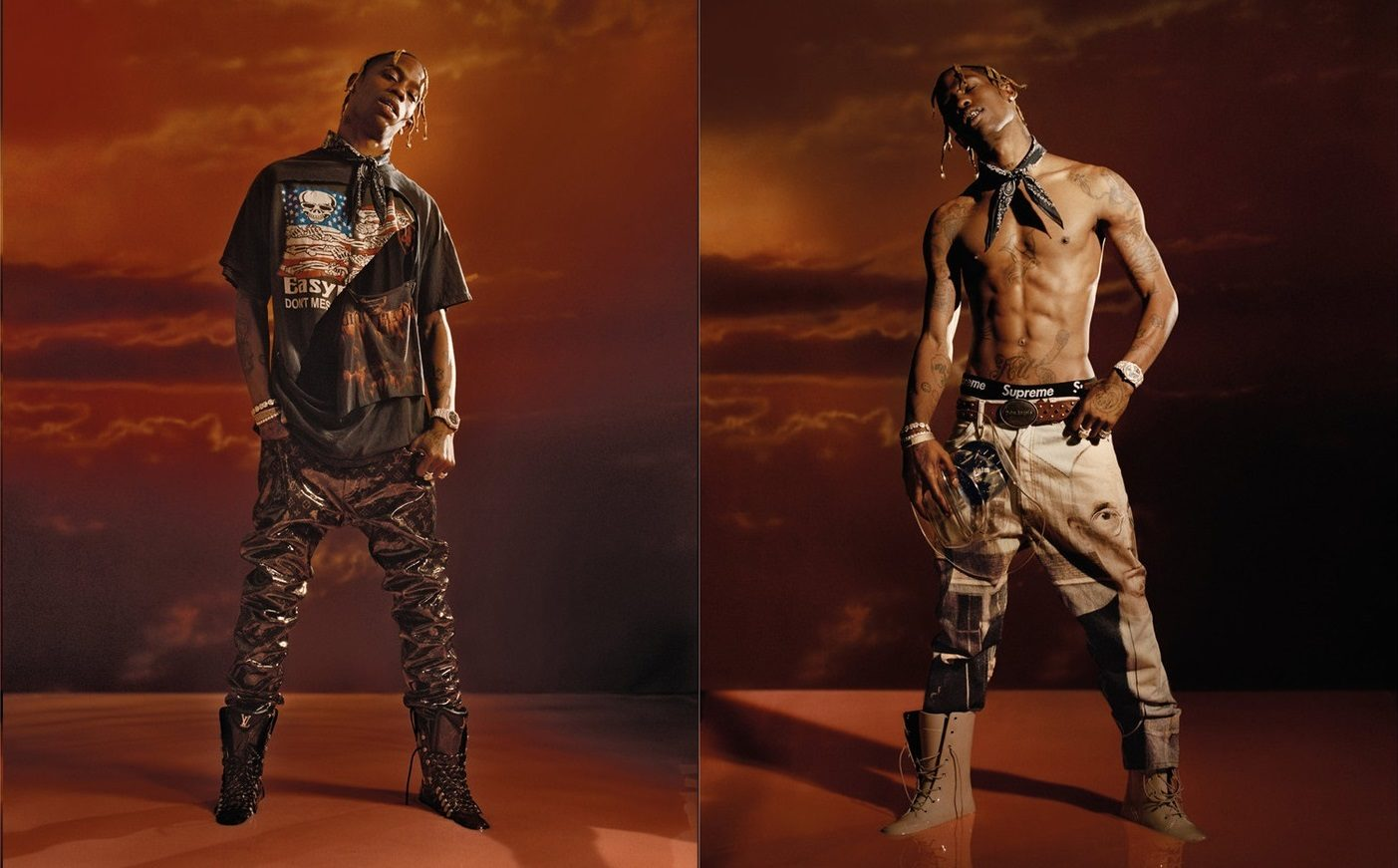 Travis Scott Appears in L'Officiel Hommes Italia Sporting Supreme, Prada, Louis Vuitton and Much More