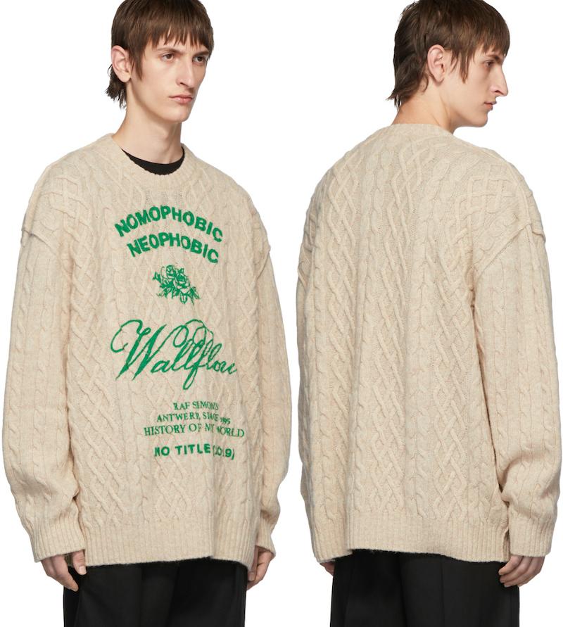 PAUSE or Skip: Raf Simons Aran Wool Sweater