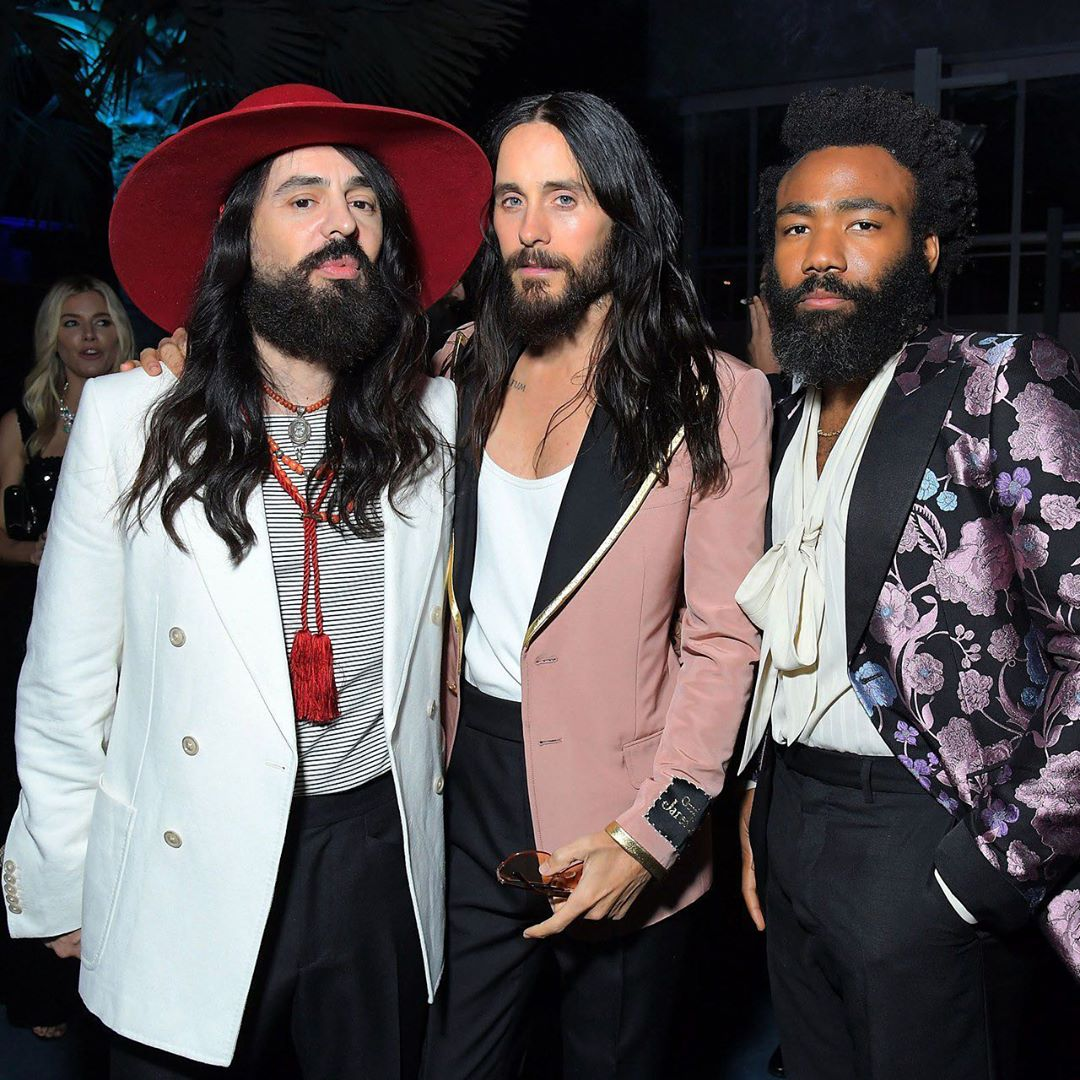 SPOTTED: Jared Leto, Alessandro Michele & Donald Glover in Gucci