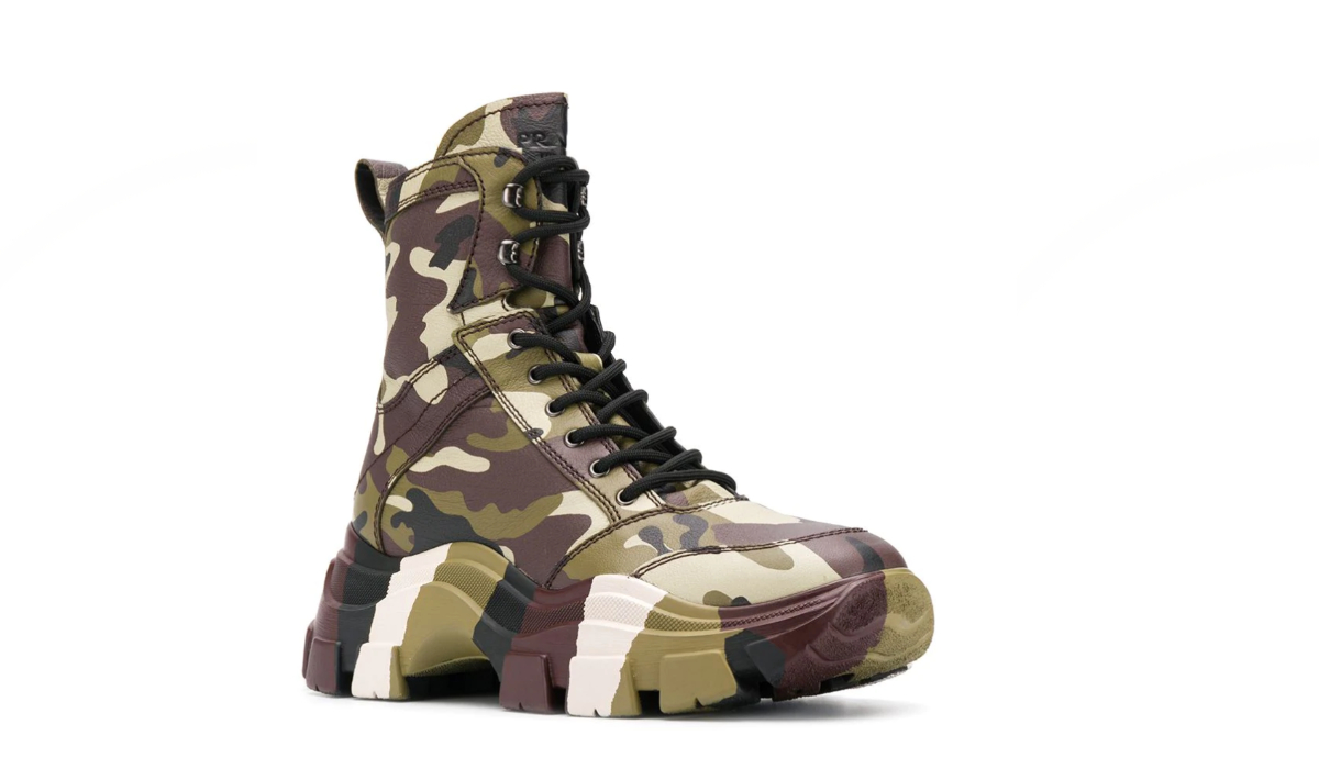 PAUSE or Skip: Prada Camouflage Print Combat Boots