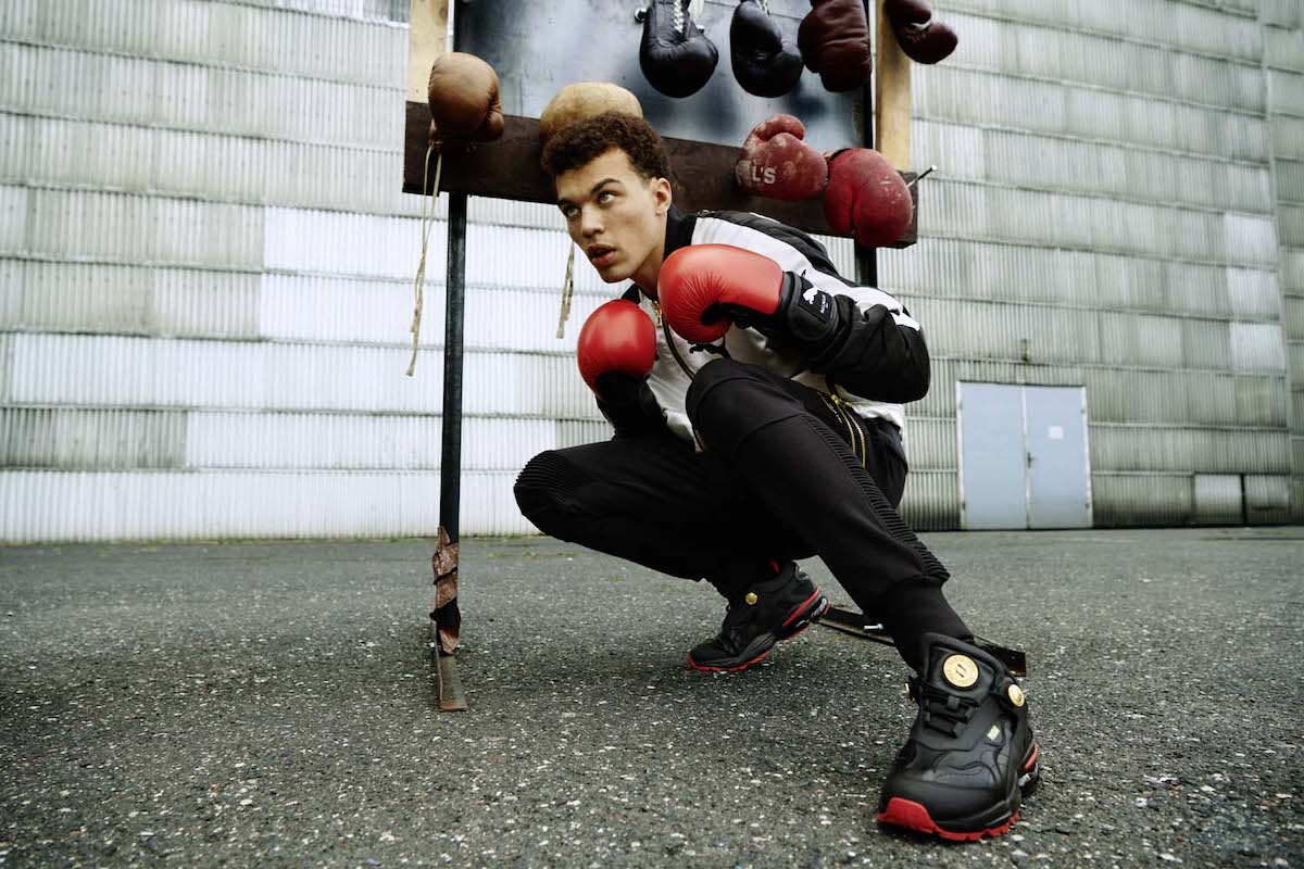 Balmain x PUMA Drop Boxing Inspired Collection Campaign