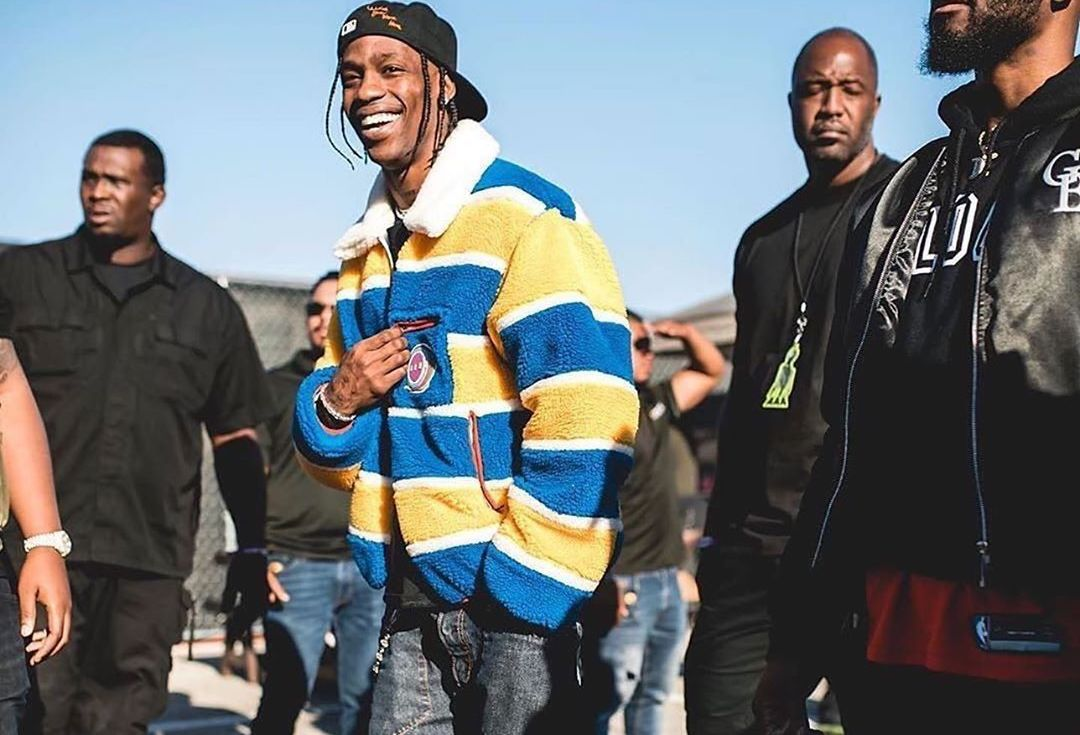 SPOTTED: Travis Scott Takes In The Sights At ASTROWORLD