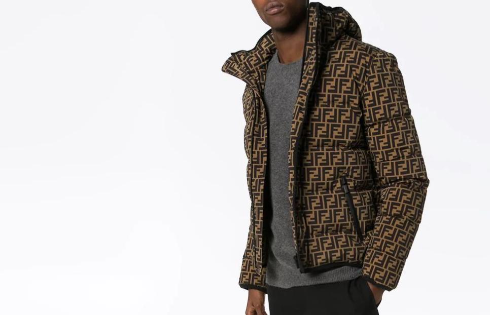 PAUSE or Skip: Fendi FF Logo Print Puffer Jacket