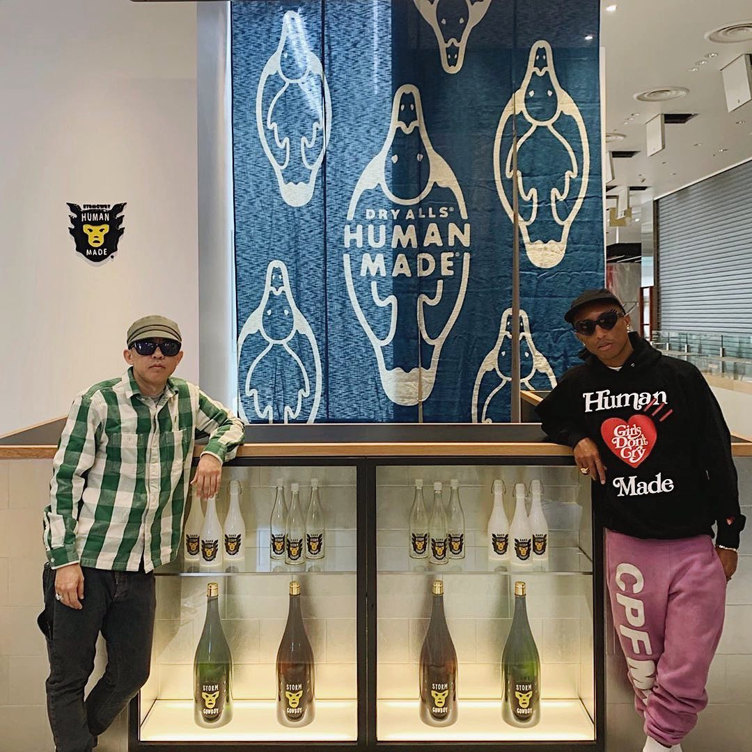 """SPOTTED: Pharrell Williams Launches """"Star Cowboy"""" Sake in Tokyo"""