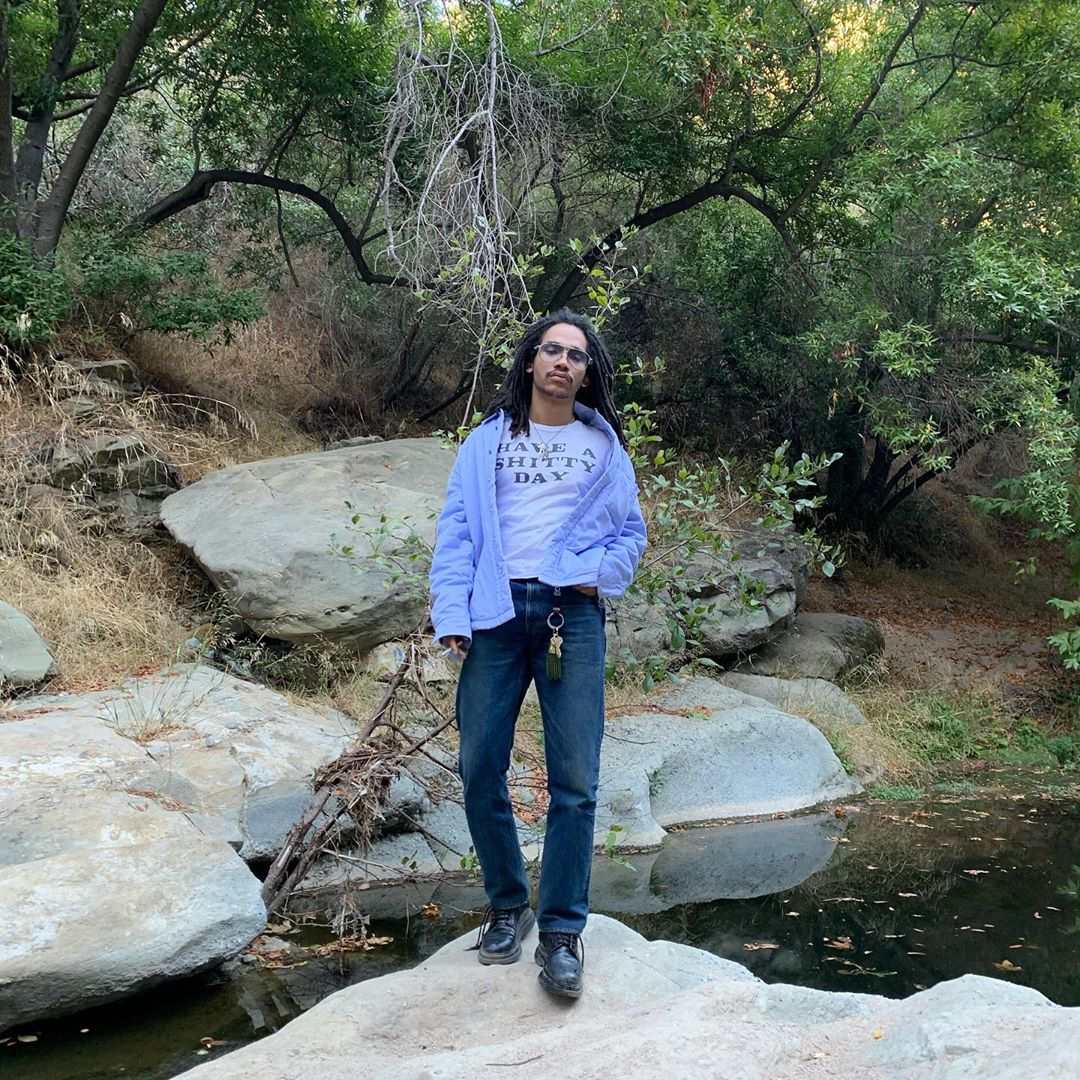 SPOTTED: Luka Sabbat Dons Lilac on Denim During Time Off