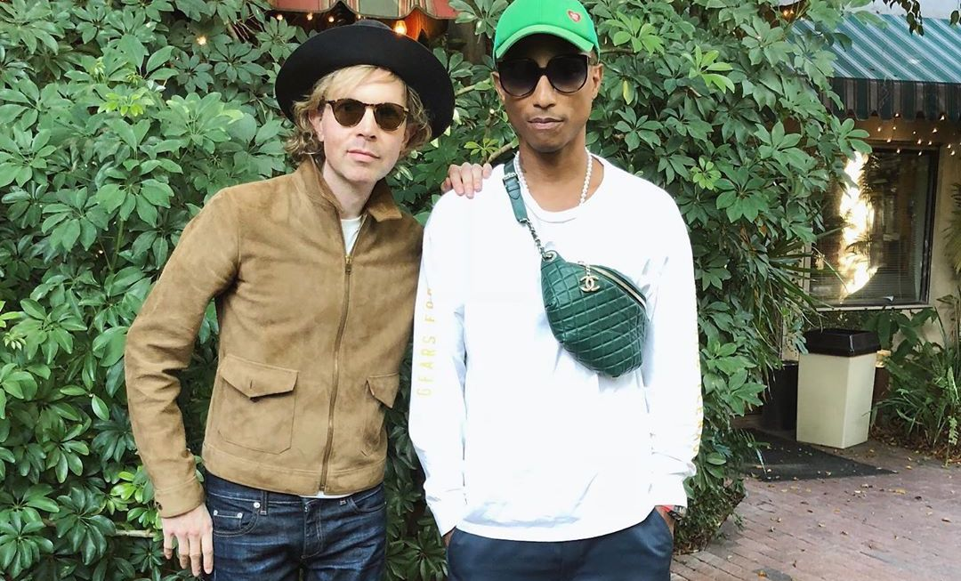 SPOTTED: Pharrell Williams Sports Emerald Green Chanel Bag