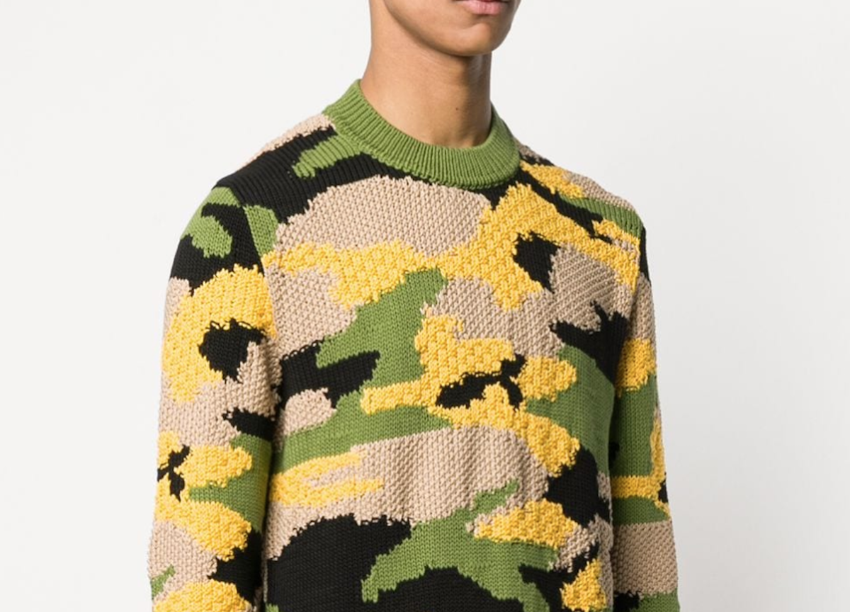 PAUSE or Skip: Prada Camouflage Knit Jumper