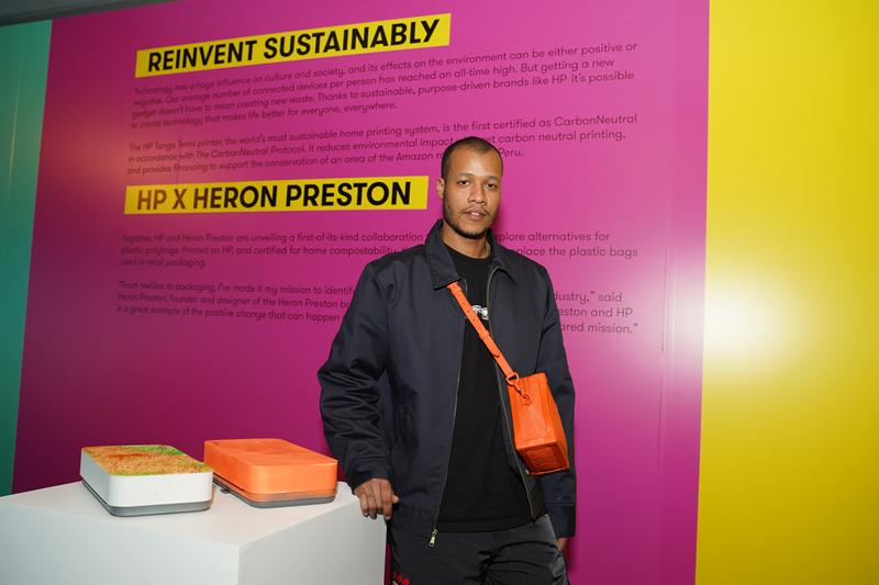 Heron Preston Teams Up With HP To Develop Compostable Pouches