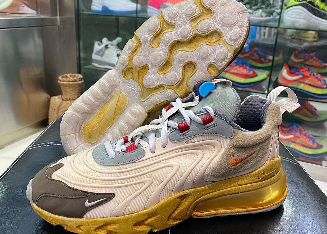 "Images of Travis Scott x Nike Air Max 270 React ""Cactus Jack"" Surface"
