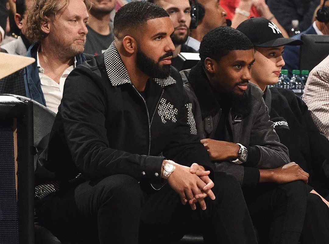 SPOTTED: Drake sits Courtside with Future the Prince in Chrome Hearts & Nike