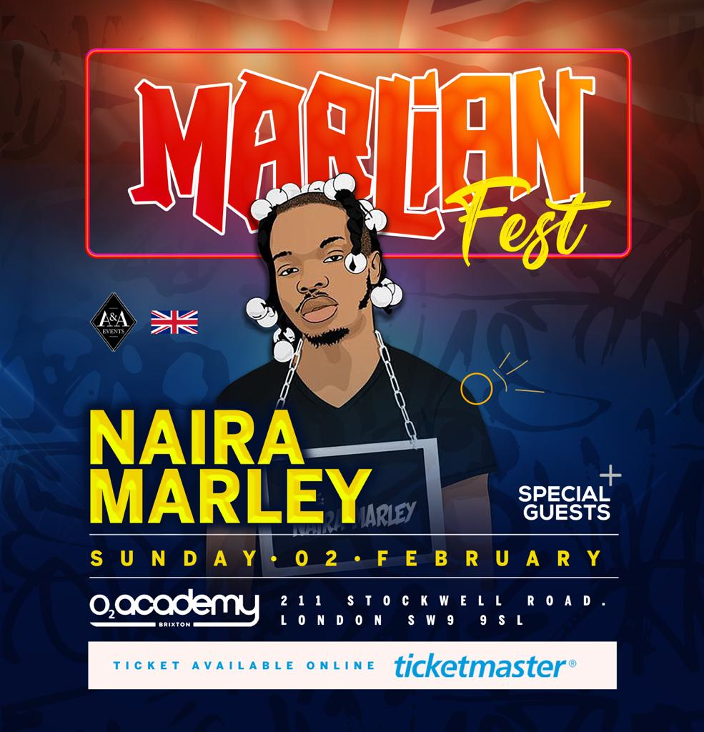 Naira Marley Performs @ O2 Academy with Ms Banks, NOT3S & more this Weekend