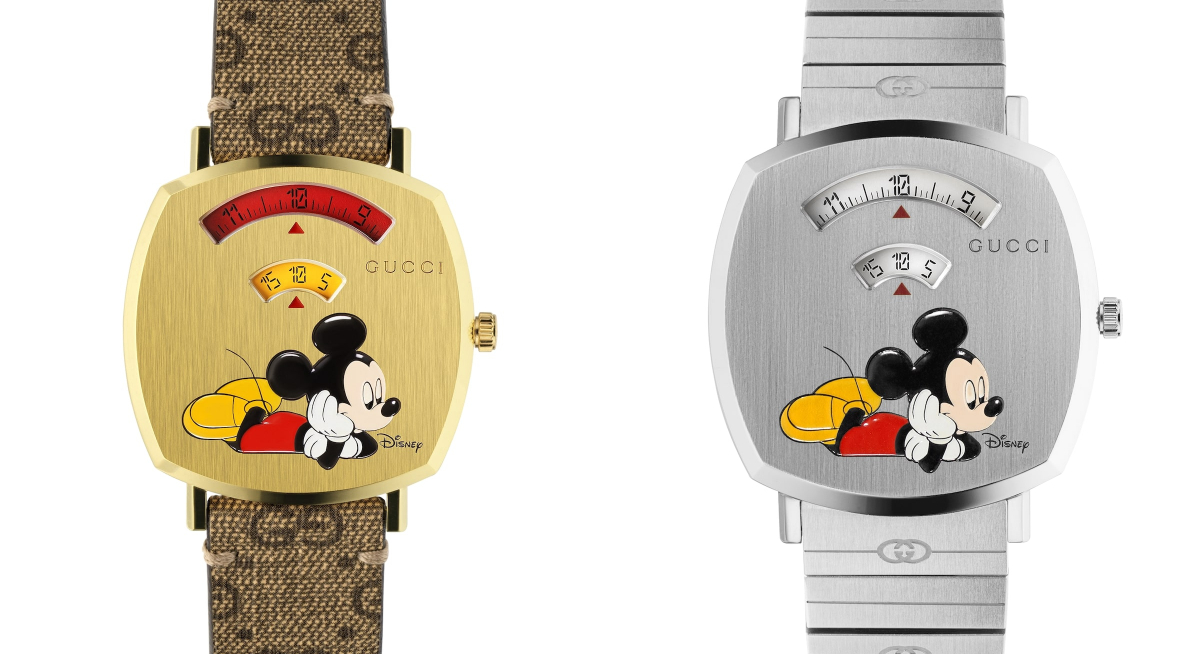 Gucci Unveils two new Grip Watches featuring Disney's Mickey Mouse