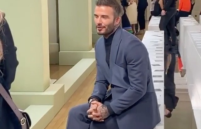 SPOTTED: David Beckham Wears Dior Suit At London Fashion Week