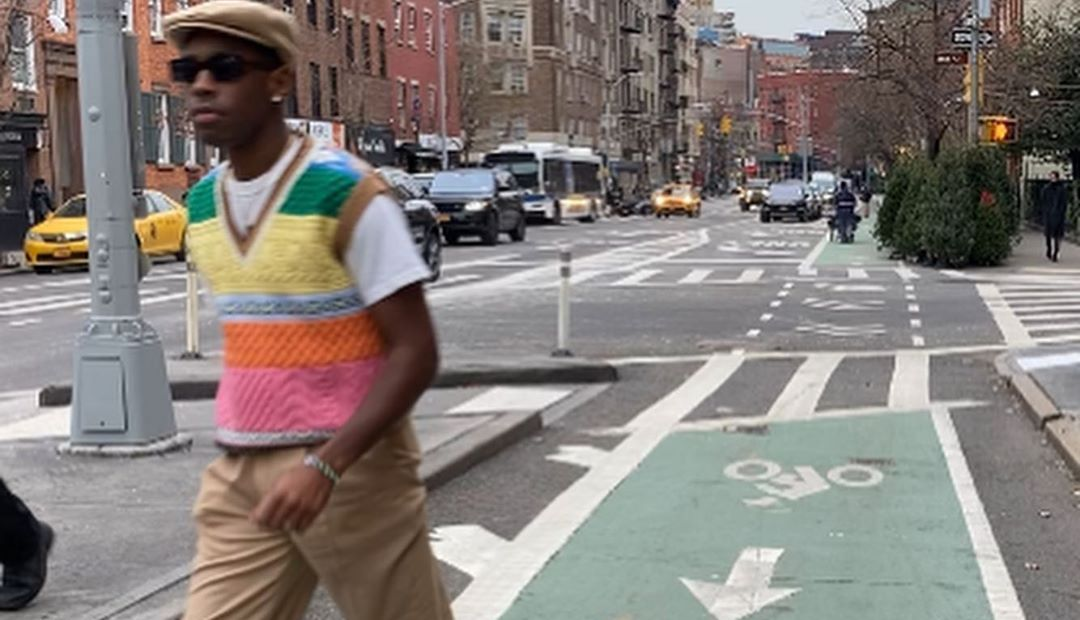 SPOTTED: Tyler, The Creator Dons Multi-Colour Sweater Vest & Converse All-Star